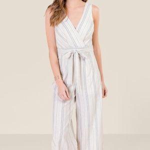 Francesca's Lauren linen jumpsuit, xs